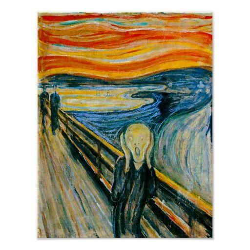 The Scream by Edvard Munch Poster   Zazzle.com   Artwork