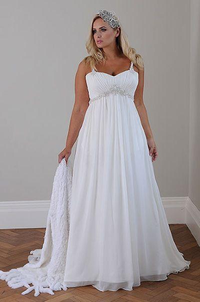 vestidos para novias gorditas: fotos y una guía para lucirlos