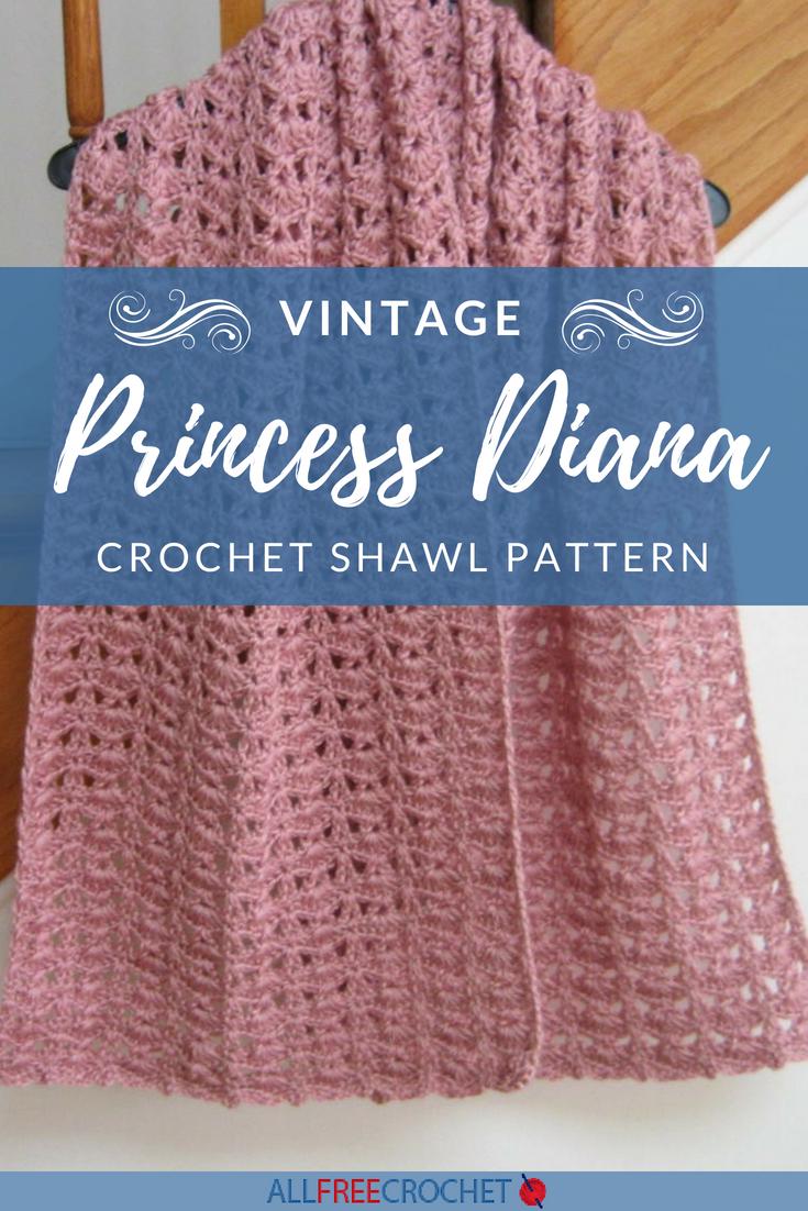 Princess Diana Vintage Crochet Shawl Pattern Free Crochet Shawl