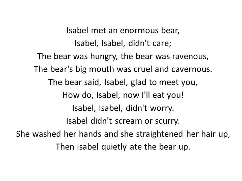 The Adventures Of Isabel Stanza 1 By Ogden Nash Poetry