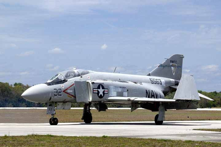 Former US Navy F-4J Phantom, undergoing restoration at