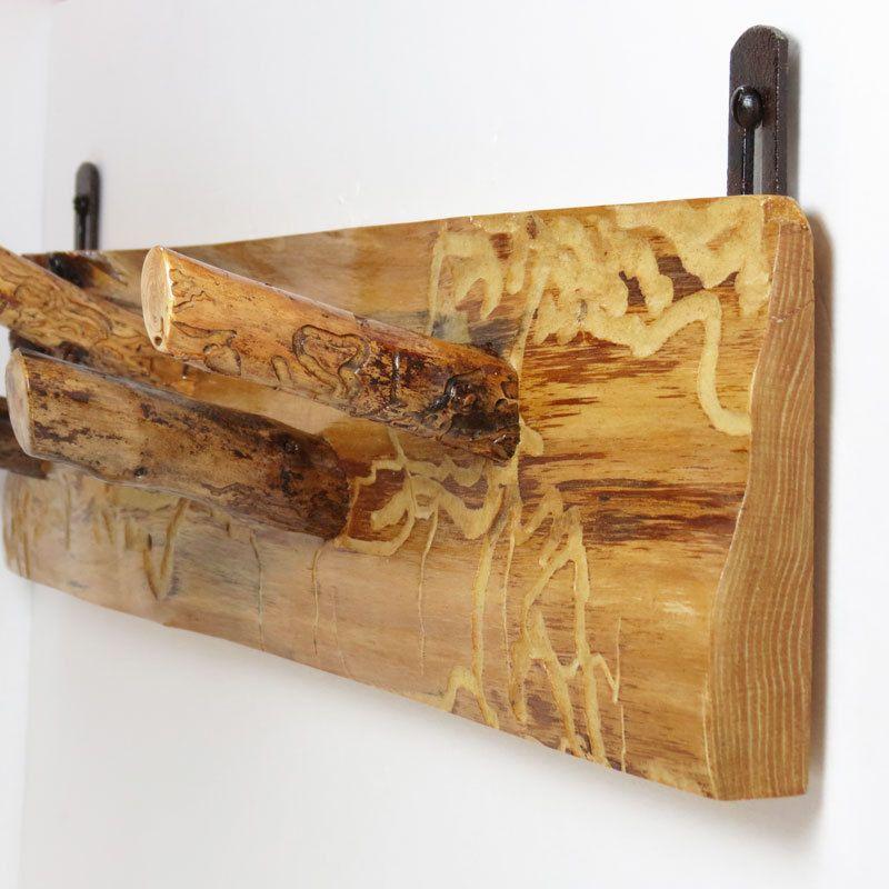 Wall Rack Coat Rack Reclaimed Wood   Rustic Wall Mount Rack   Wooden Wall  Coat Hooks