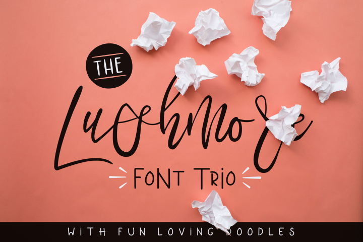 Download Lushmore Font Trio | Premium fonts, Font packs, Retro font