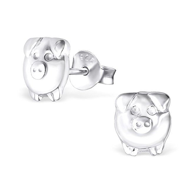 Hypoallergenic Silver Pig Stud Earrings For S Nickel Free And Safe Sensitive Ears