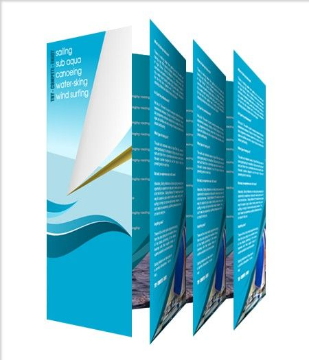 A4 2 Fold Leaflets Printed Double Sided