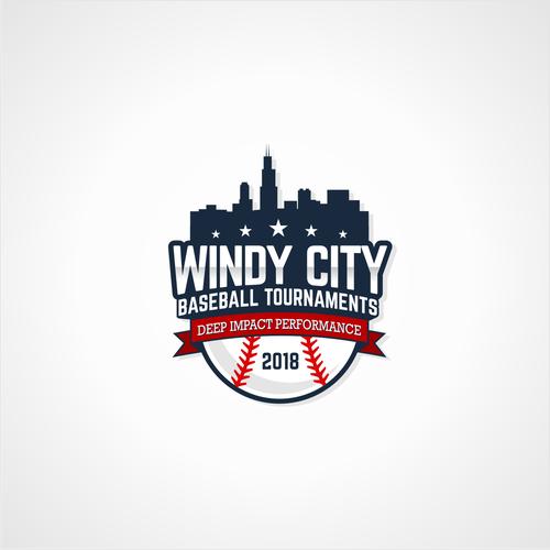 Windy City Baseball Tournaments Baseball Tournament Business Needs Out Of The Park Logo Windy City Baseball Tournaments Geometric Logo Typography Logo Logos