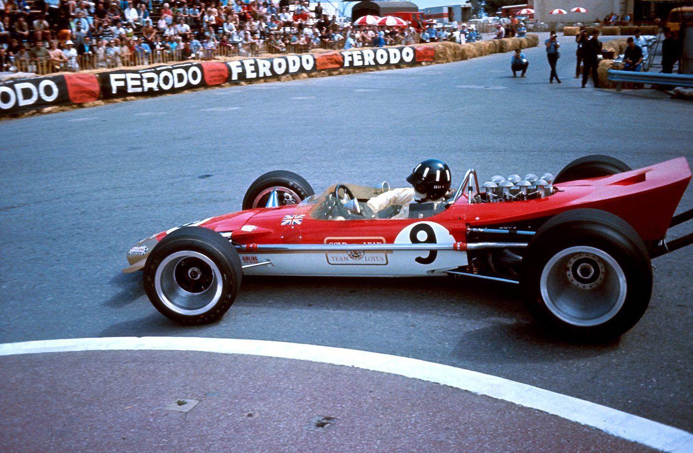1968 monaco lotus graham hill vintage f1 50 s 60 s lotus f1 formula 1 racing. Black Bedroom Furniture Sets. Home Design Ideas