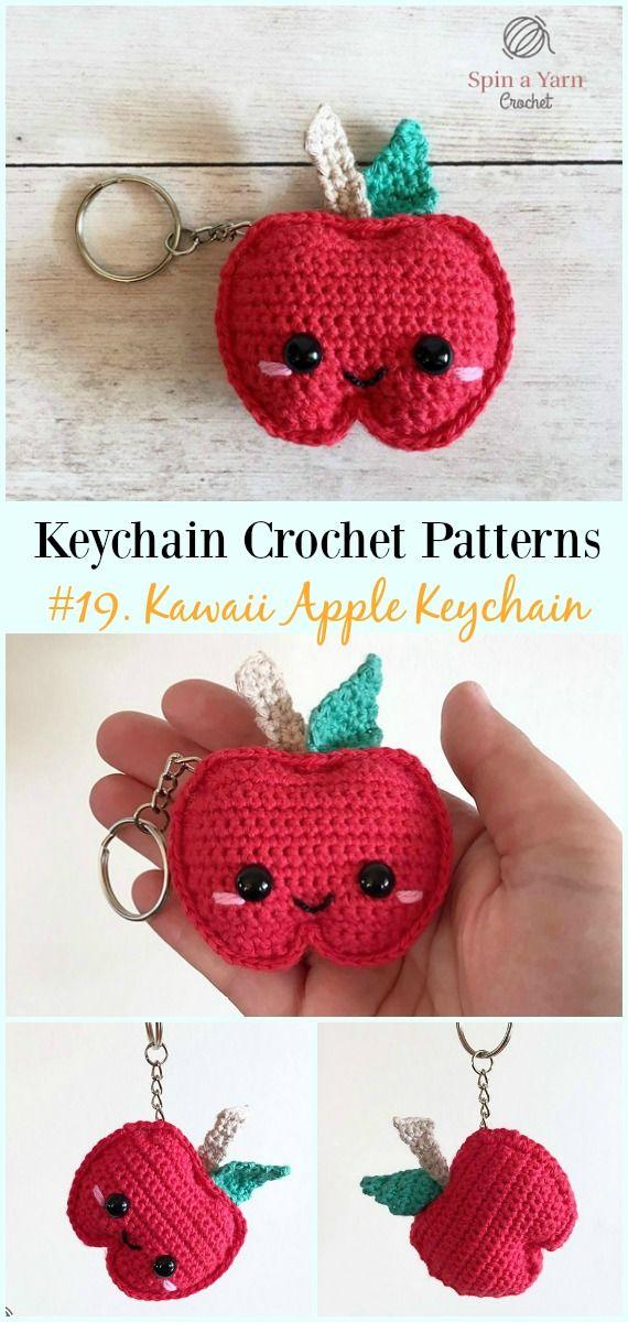Cute and Fun Keychain Crochet Patterns #crochetamigurumifreepatterns