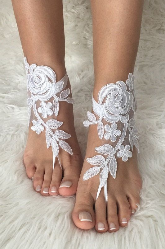 25653f3b56c23 white lace barefoot sandals