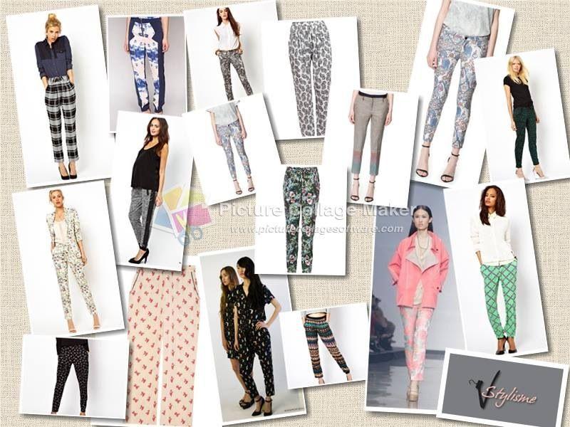 Ss13 season must have  Printed pants   Inspiration board Asos H Zara Martin lim
