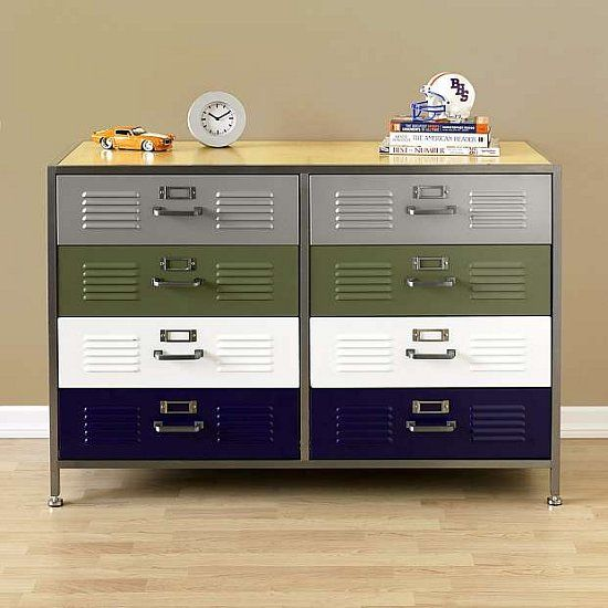 Clothes For A Studious Look Read More Dressers Locker Double Dresser Drawers Pb Teen
