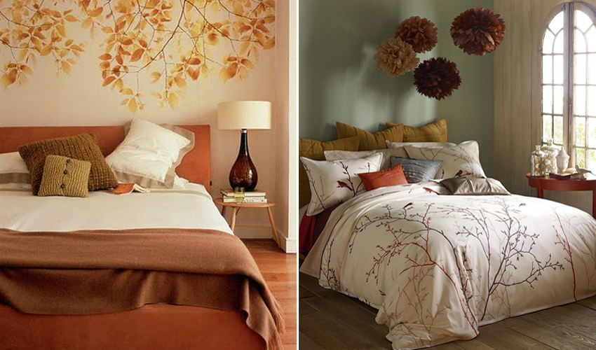 Slaapkamer warm digtotaal - Lounge warme kleur ...