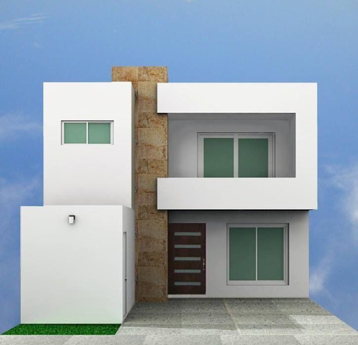 Fachada de casas peque as minimalistas y muy elegantes for Casas pequenas y bonitas