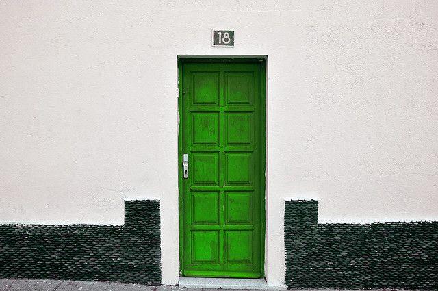 I wonder what's behind the green door?
