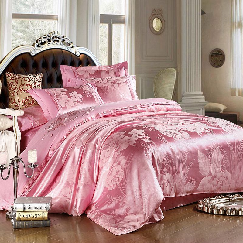 find more bedding sets information about pink silk luxurious