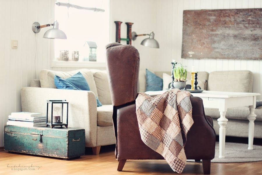 love the neutral tones with blue and green accents. Perfect!