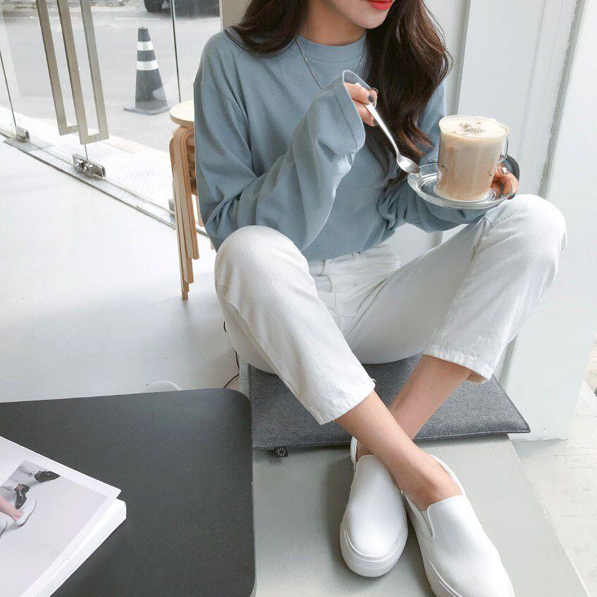 웃♥유Yewangmkz #ootd #outfit #wardrobe #blue #korean