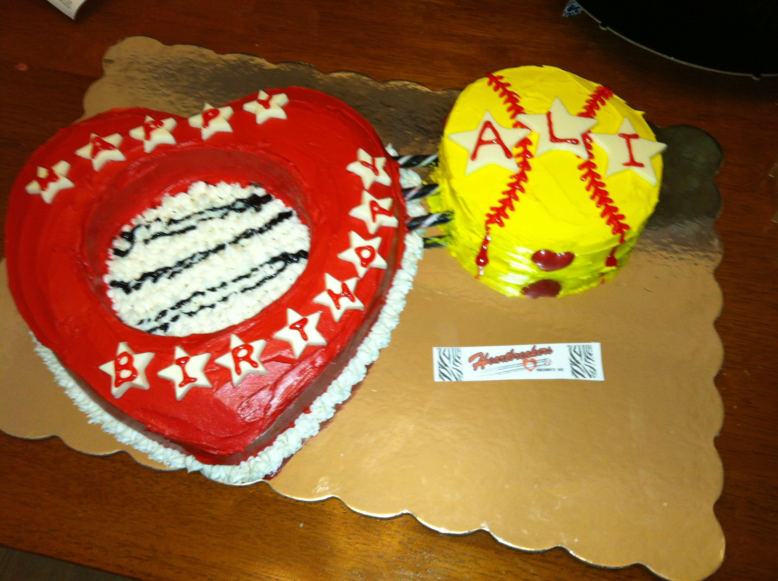 Birthday Cake For The Heartbreakers Player Ali The Logo Of Her