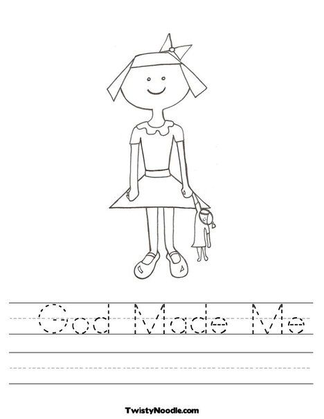 God Made Me Coloring Page God Made Me Bible Lessons For Kids