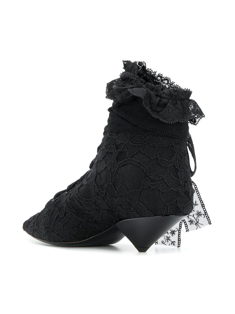 16424983c22 Saint Laurent Black Blaze 45 Lace Ankle Boots | Freaking Ugly Shoes ...