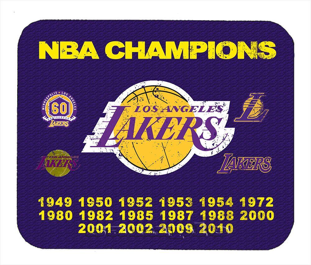 Item 324 Los Angeles Lakers Championship Distressed Banner Mouse Pad Lakers Championships Los Angeles Lakers Lakers