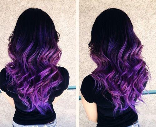 Capelli viola sfumati  non valutare questa tendenza che segnerà l autunno   capelli   0f72230e3c48