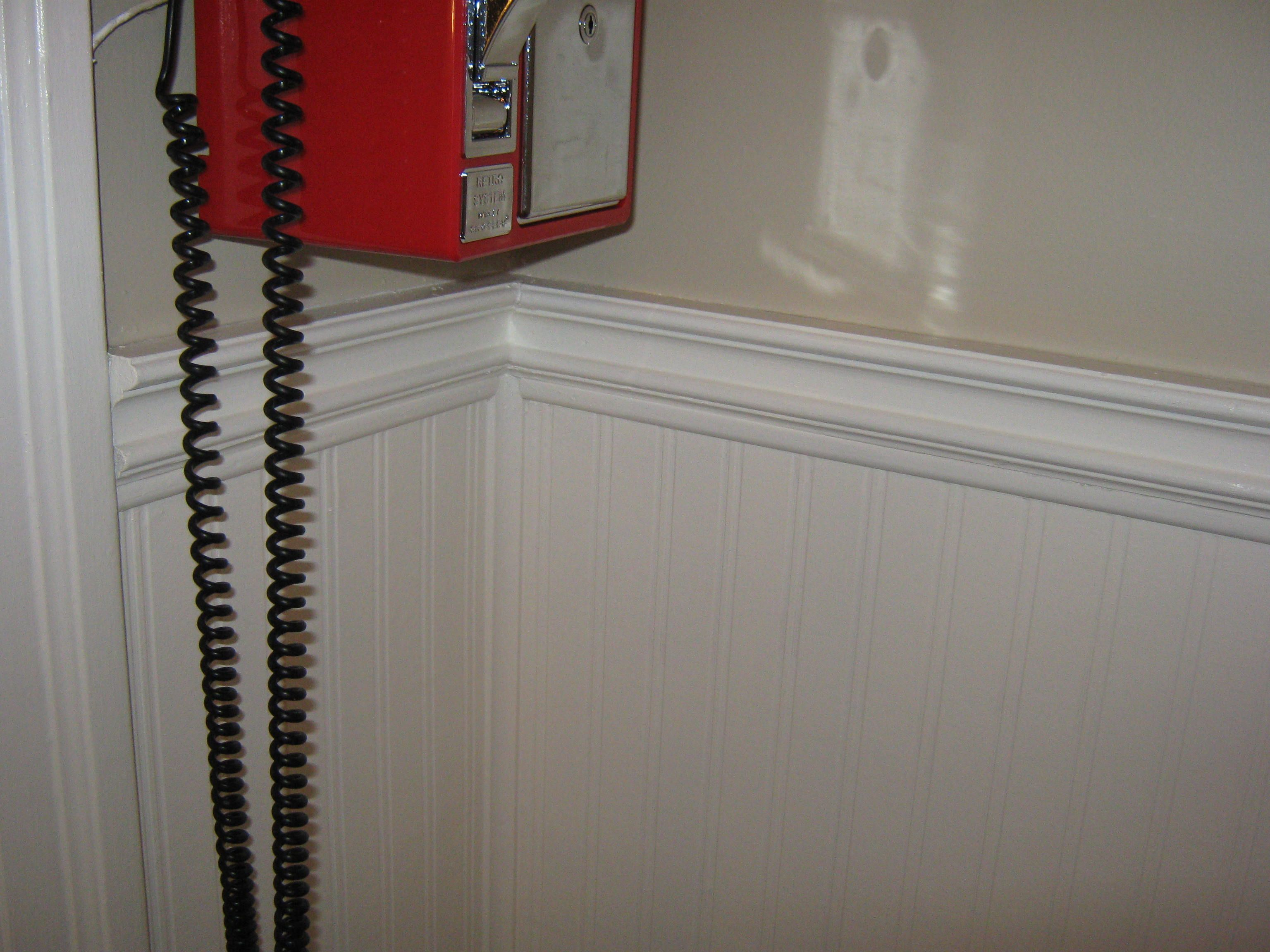Chair Rail For Beadboard Part - 45: We Used Beadboard Wallpaper Below The Existing Chair Rail And Just Added  More Trim. Then
