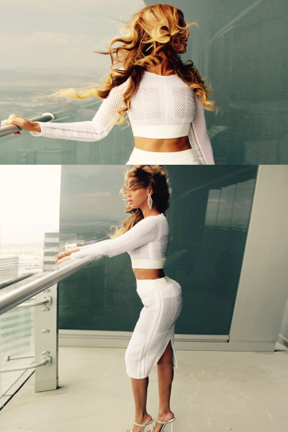 Casual flowy white dress fashion style 2015 - Beyonc Wearing Chlo Nellie Crystal Heel Mule Sandals 1 160 Beyonce Pinterest Heeled Mules Sandals And Mule Sandals
