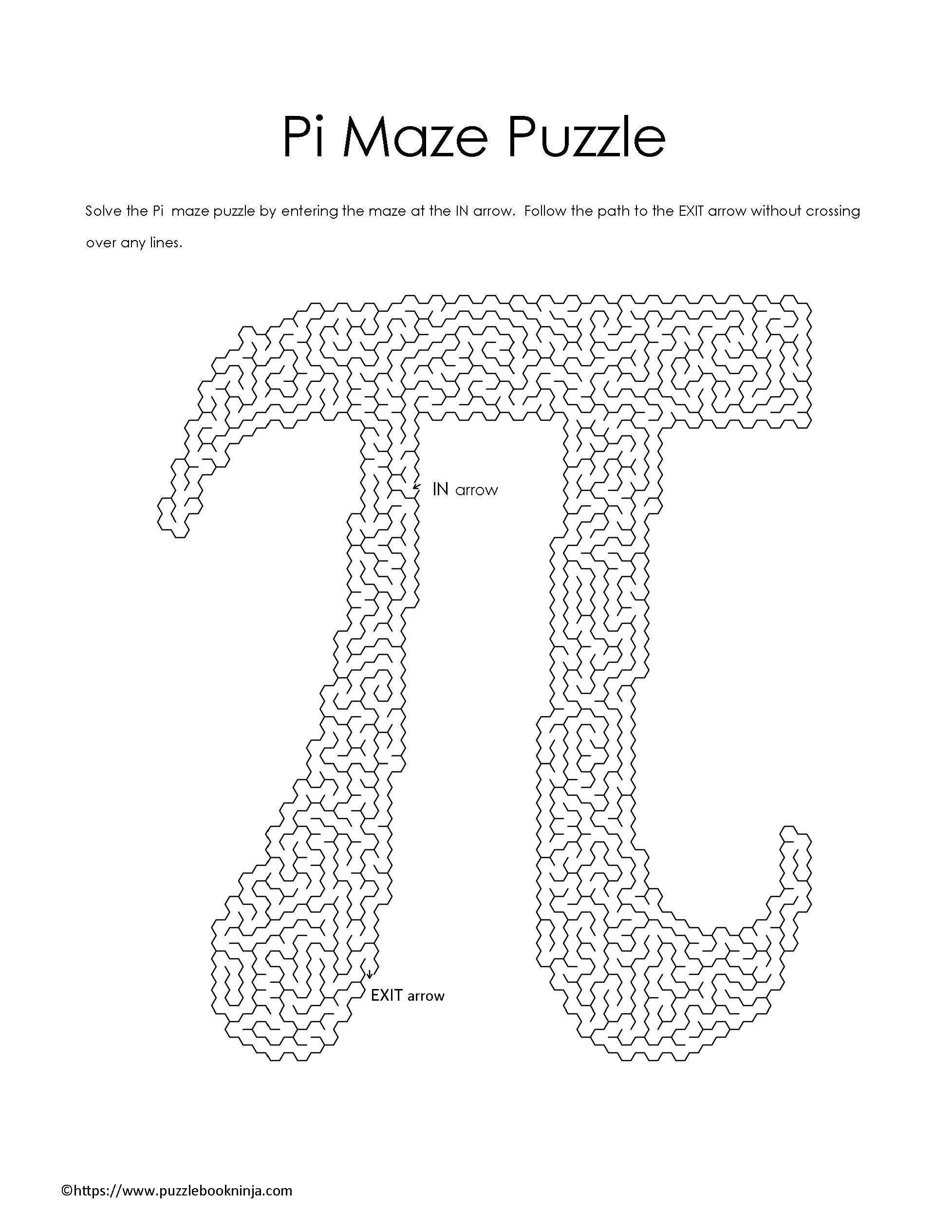 Freebie Pi Symbol Maze Puzzle To Download And Complete Math