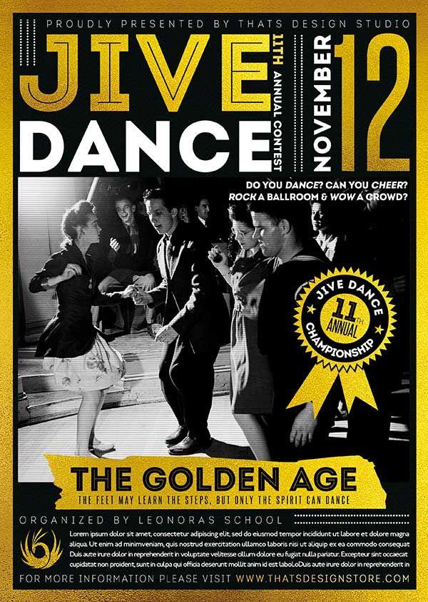 Jive Dance Flyer Template | Pinterest | Flyer template, Design ...