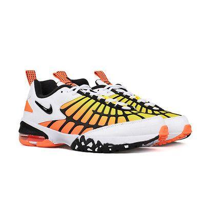 10e177723705b9 Nike Air Max 120 Mens 819857-100 White Black Hyper Orange Training Shoes Sz  11.5