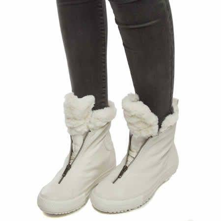 womens converse white rise boot shroud fur hi boots