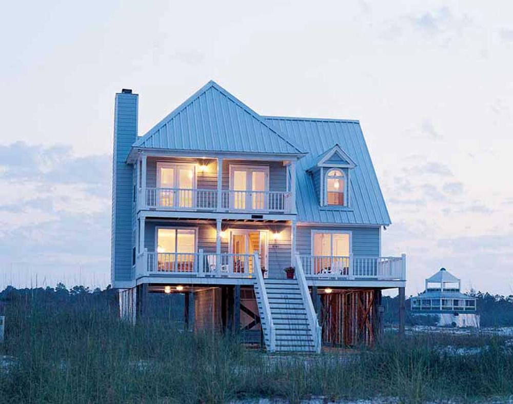 Plan 60050rc Beach Home Plan Perfection In 2021 Beach House Plans Beachfront House Beach House Exterior