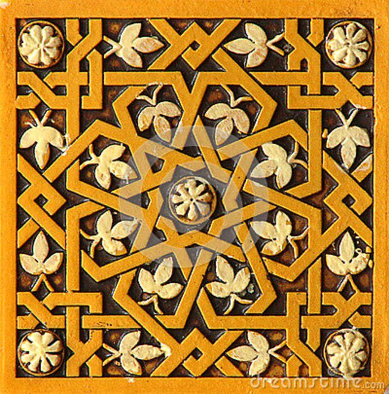 moorish period design | Islamic Tile Pattern Stock Photography ...