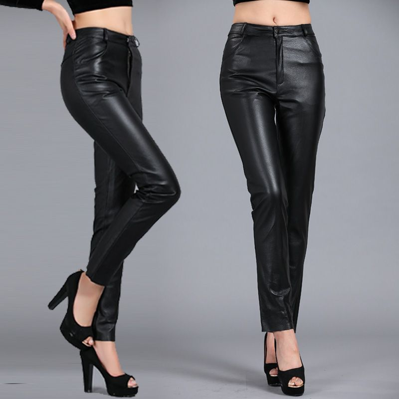 leather skinny jeans for women