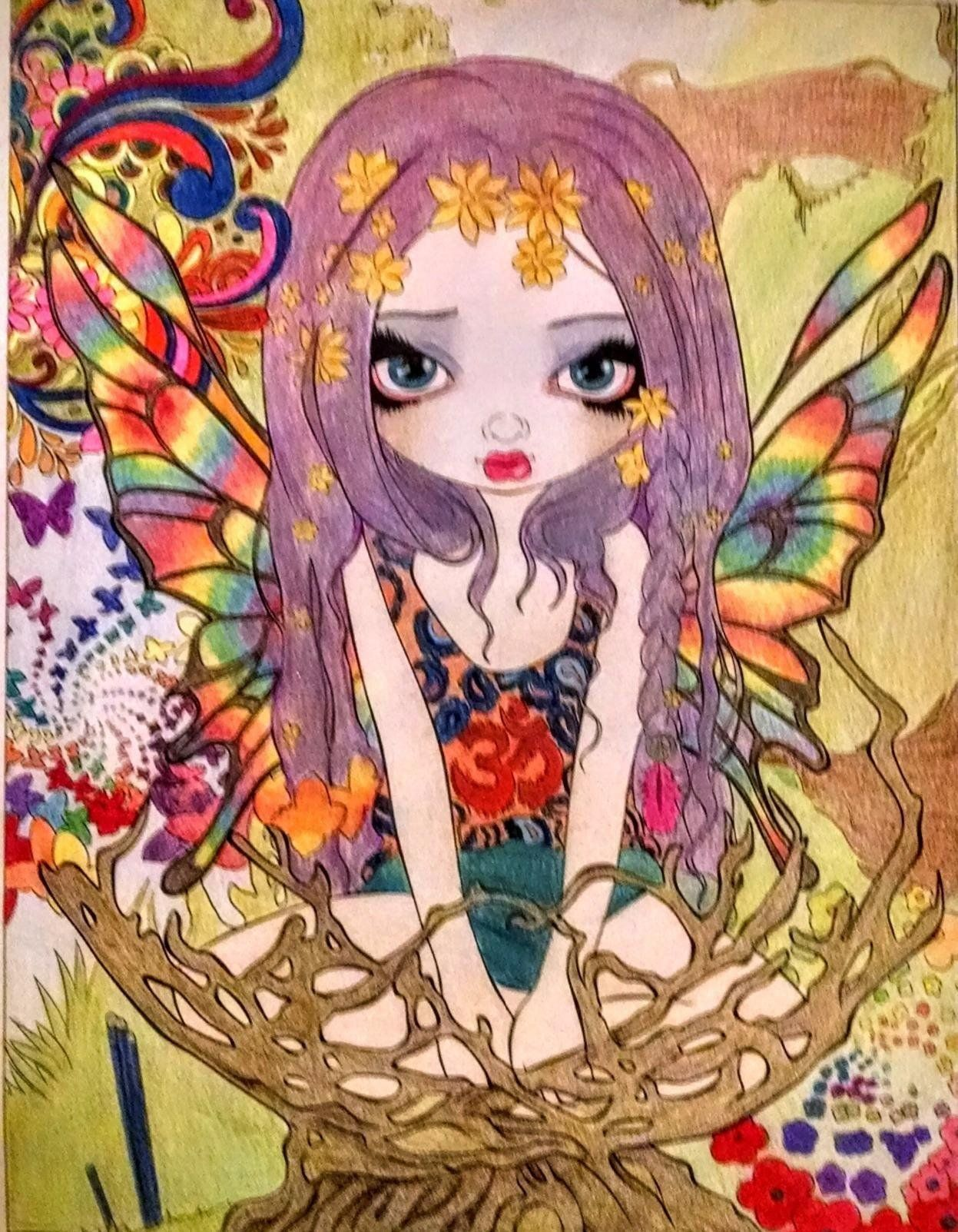 Watercolor books amazon - Amazon Com Jasmine Becket Griffith Coloring Book A Fantasy Art Adventure