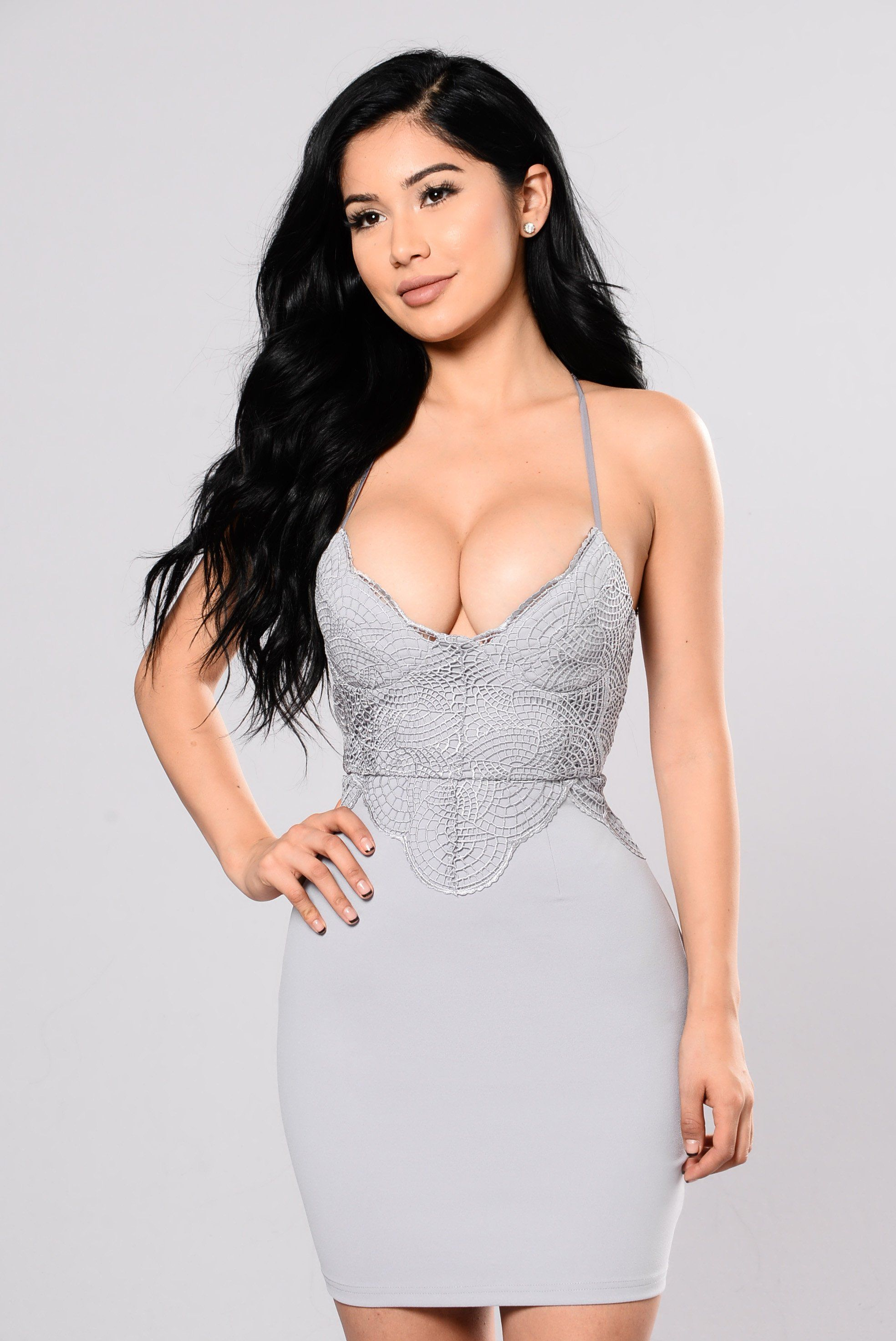 Born to be with you dress blue grey breasts pinterest dress