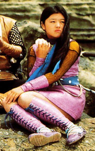 カスミ 演 林寛子 in 変身忍者嵐 1972年 1973年 戦う女 忍者 嵐
