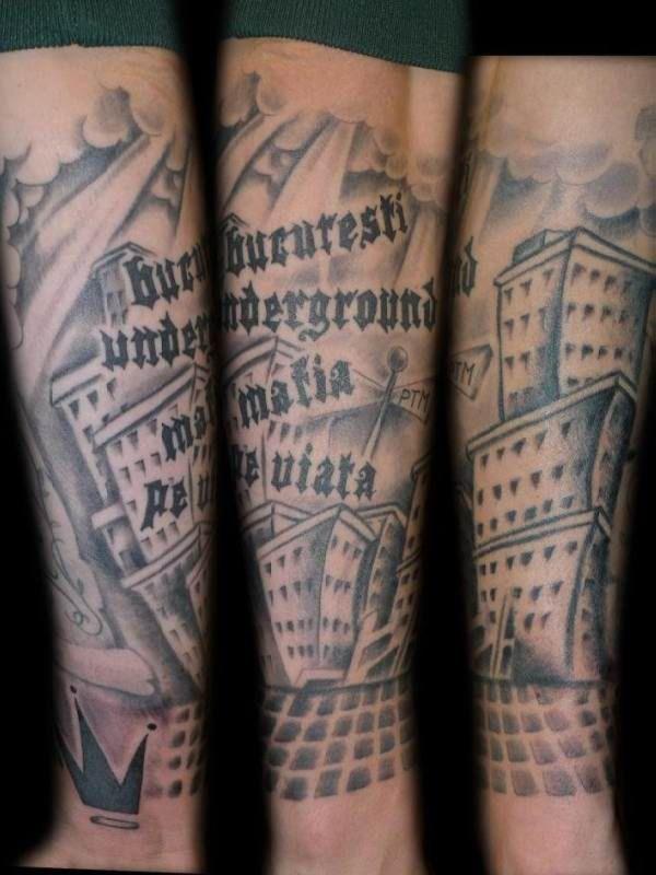 Tattoo Wade Schrift
