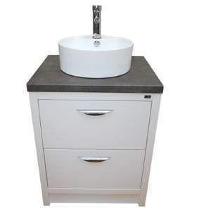 Zola Bathroom Mirrors zola laburnum 60cm vanity unit c/w basin & mixer woodiespaint