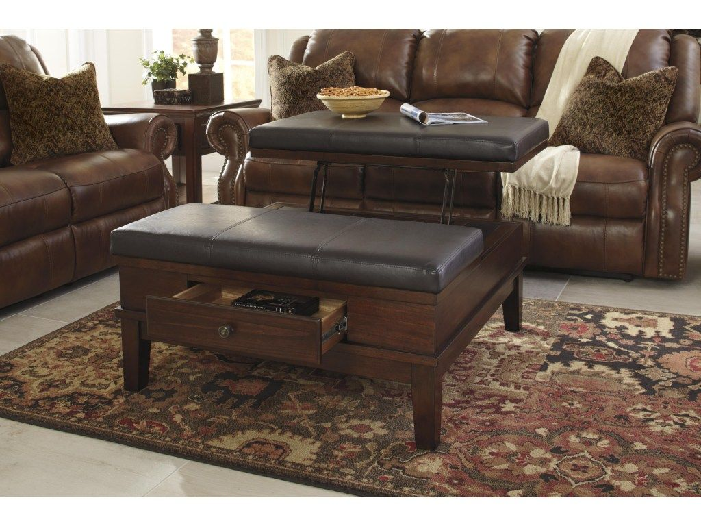 Gately Lift Top Ottoman Cocktail Table with Storage by