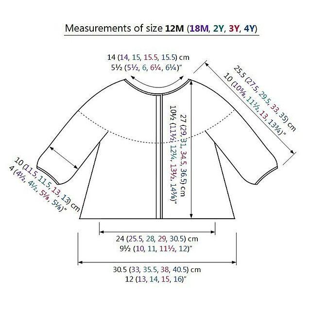 Knitting Baby Sweater Measurements : Crochet sweater measurements pinterest