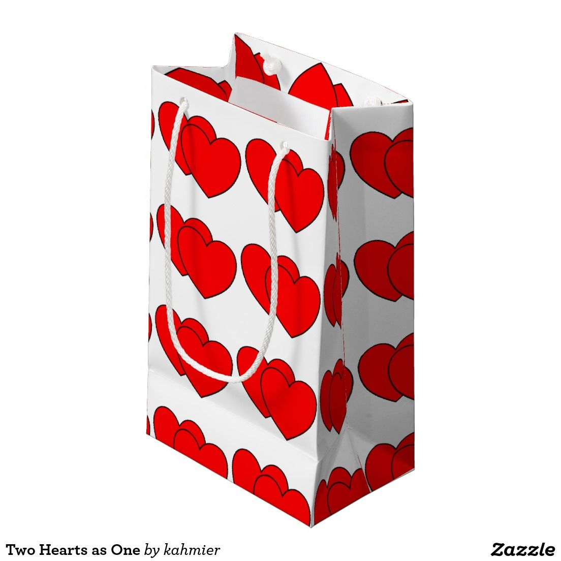 Two Hearts as One Small Gift Bag