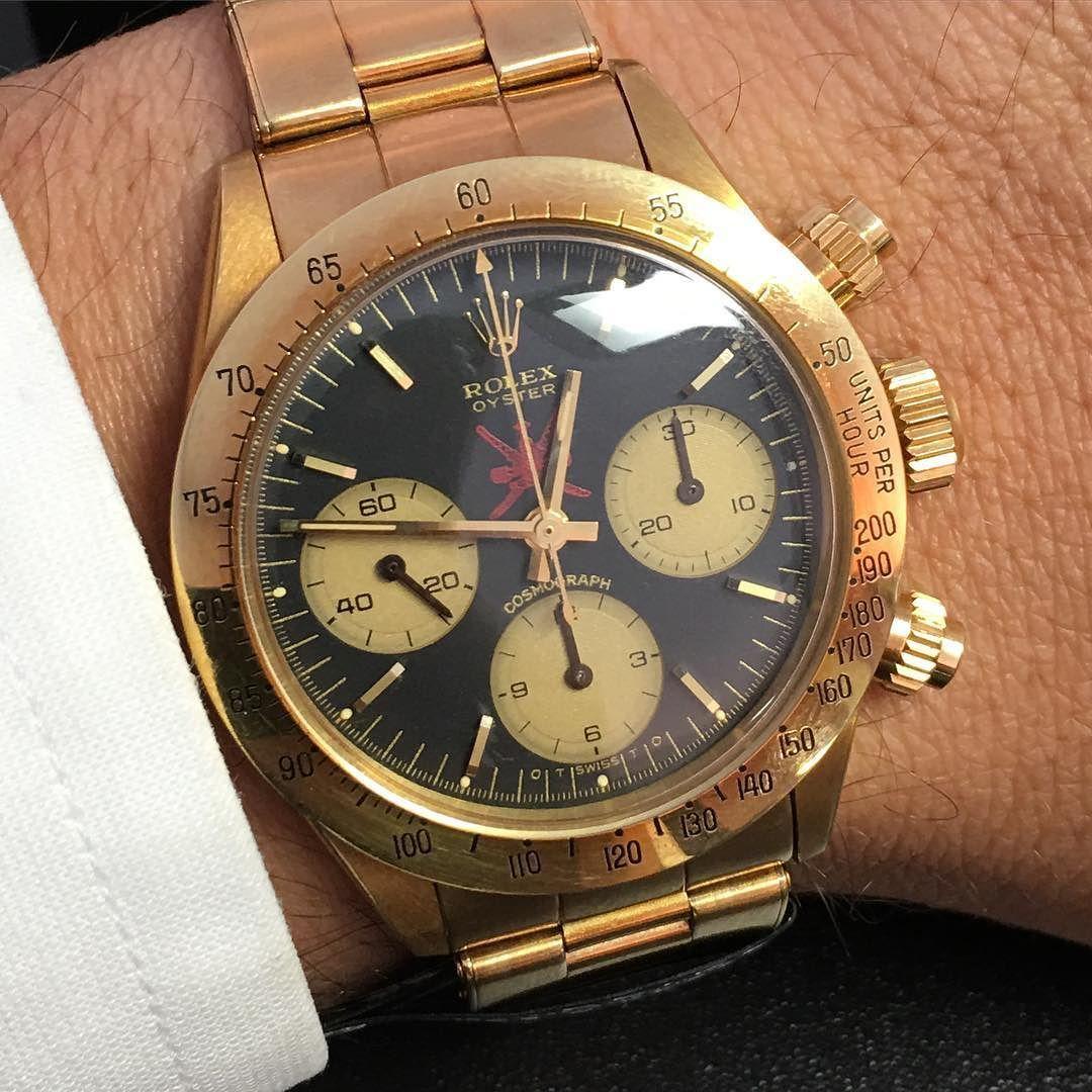 Wrist watch price in oman - Sultanate Of Oman Rolex6265 Gold Asprey Vintagewatch Superrare Oman