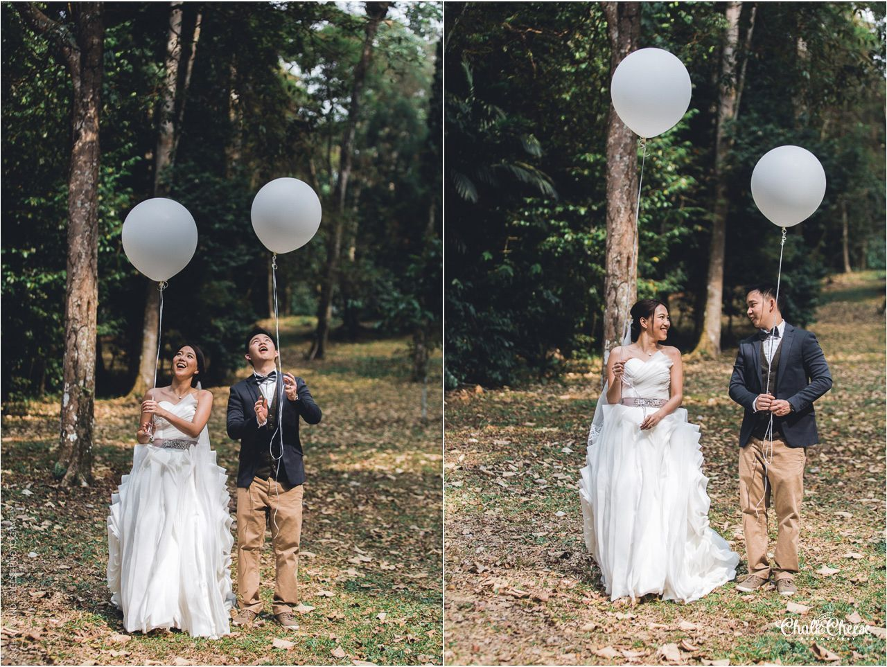 pre wedding photoshoot location malaysia%0A Balloons themed PreWedding Session at FRIM  Tropical Rainforest  Malaysia  by Chalk and