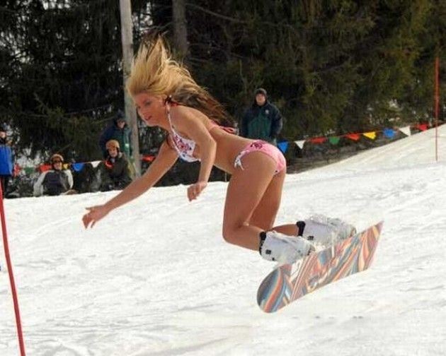 pic snow Bikini skiing