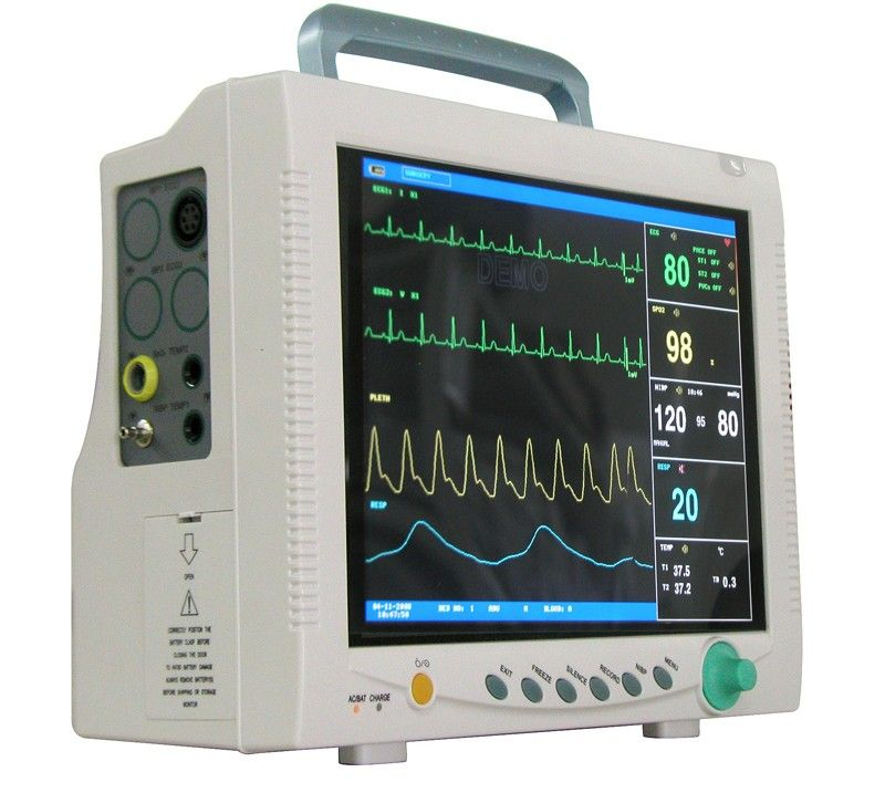 Ce Approved Contec Cms 7000 Multi Parameter Patient Monitor Holter Medical Equipment Ecg Spo2 Resp Nibp Temp Health Care Vital Signs Monitors Vital Signs