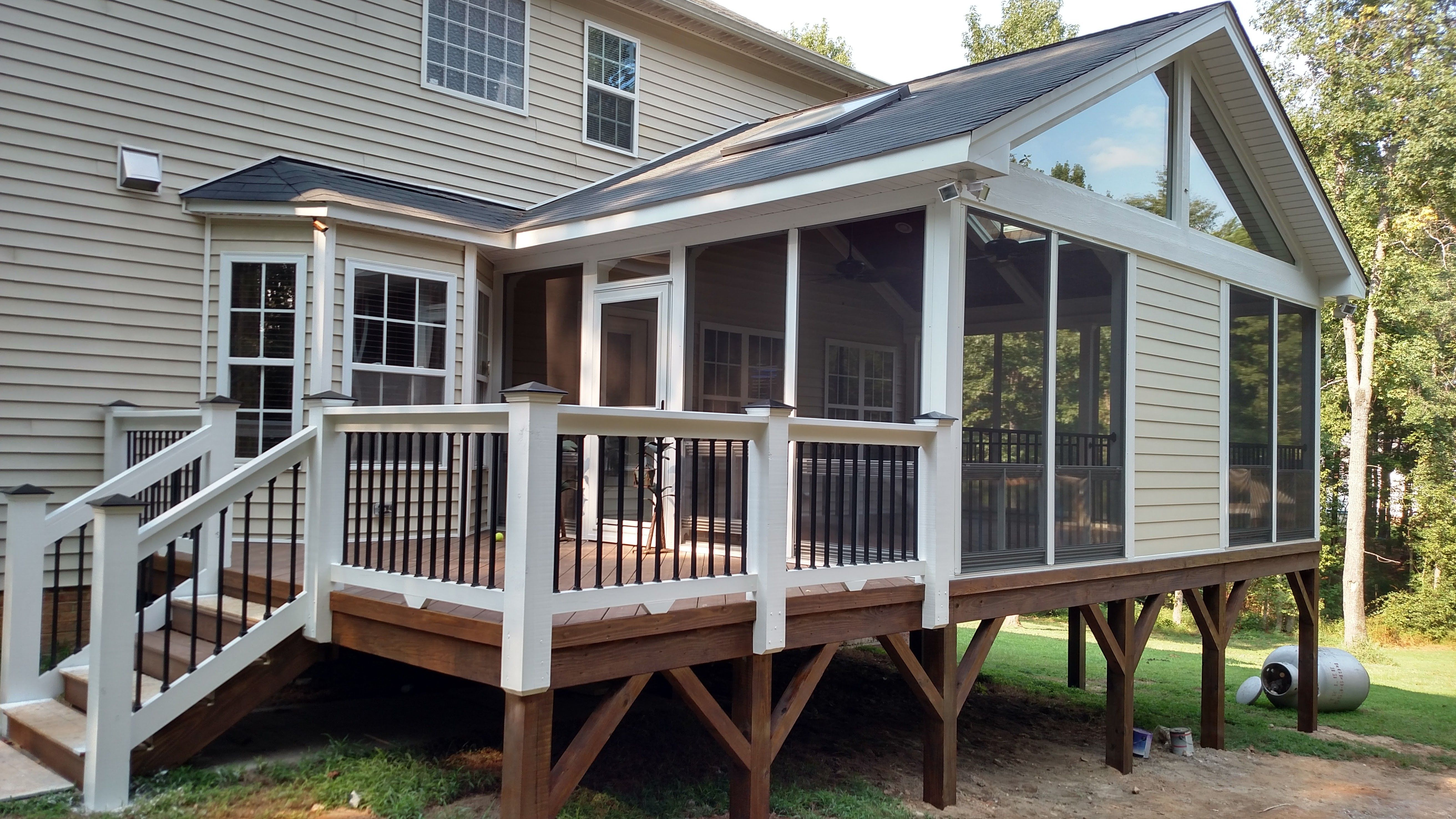 Side And Back Porch Combo House With Porch Porch Design Screened Porch Designs
