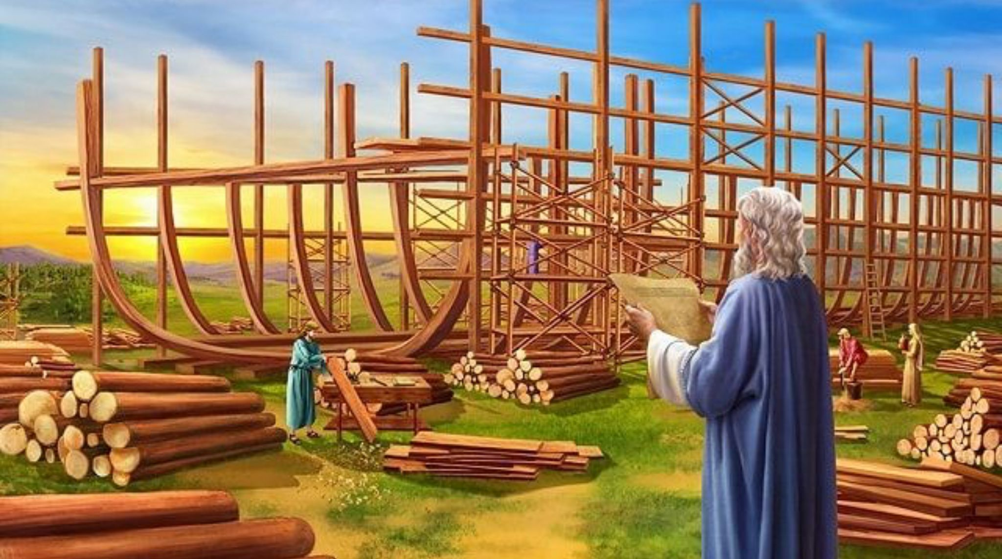 Good Morning My Dear Jw Family And Friends Wake Up To This Morning S Daily Text Taken From 2 Pet 2 5 Live Noah Building The Ark Bible Pictures Water Flood