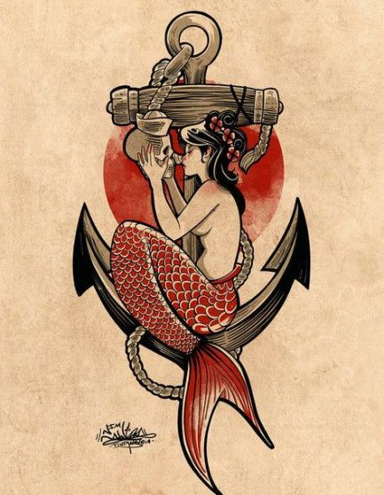41 ideas for tattoo old school sirena – tattoo – # for #ideas #school #sirena #tattoo